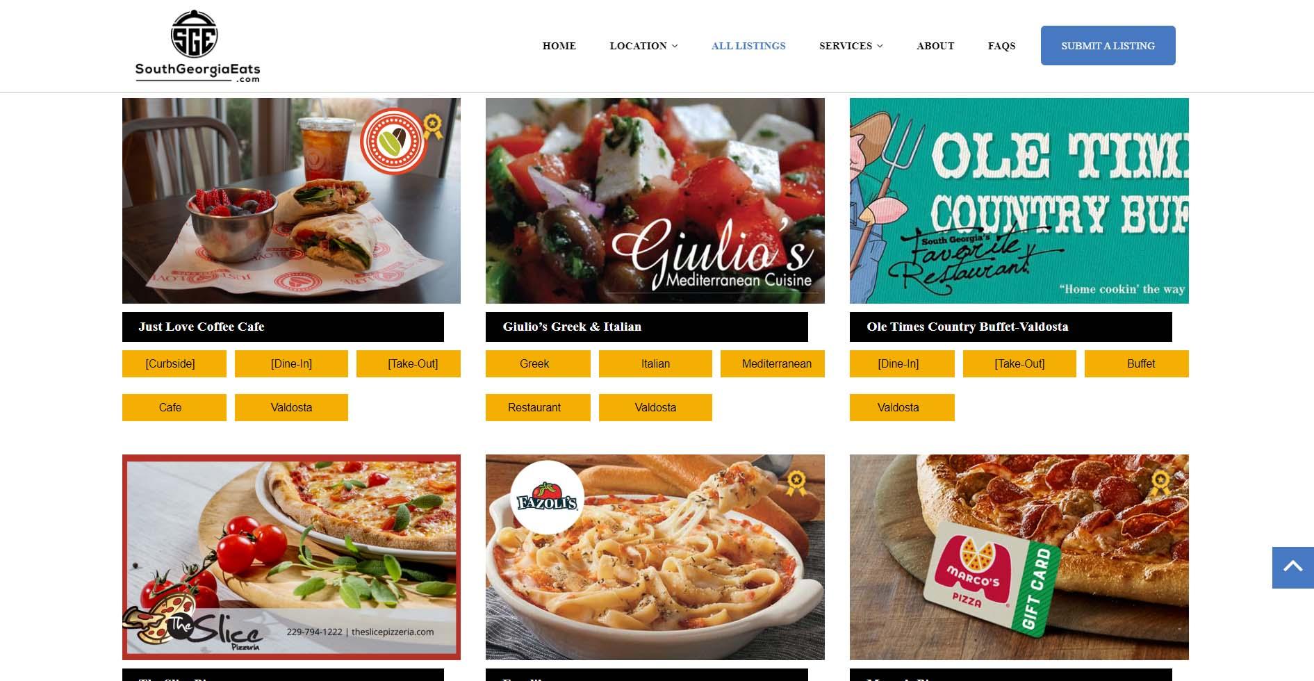 Restaurants Directory Website
