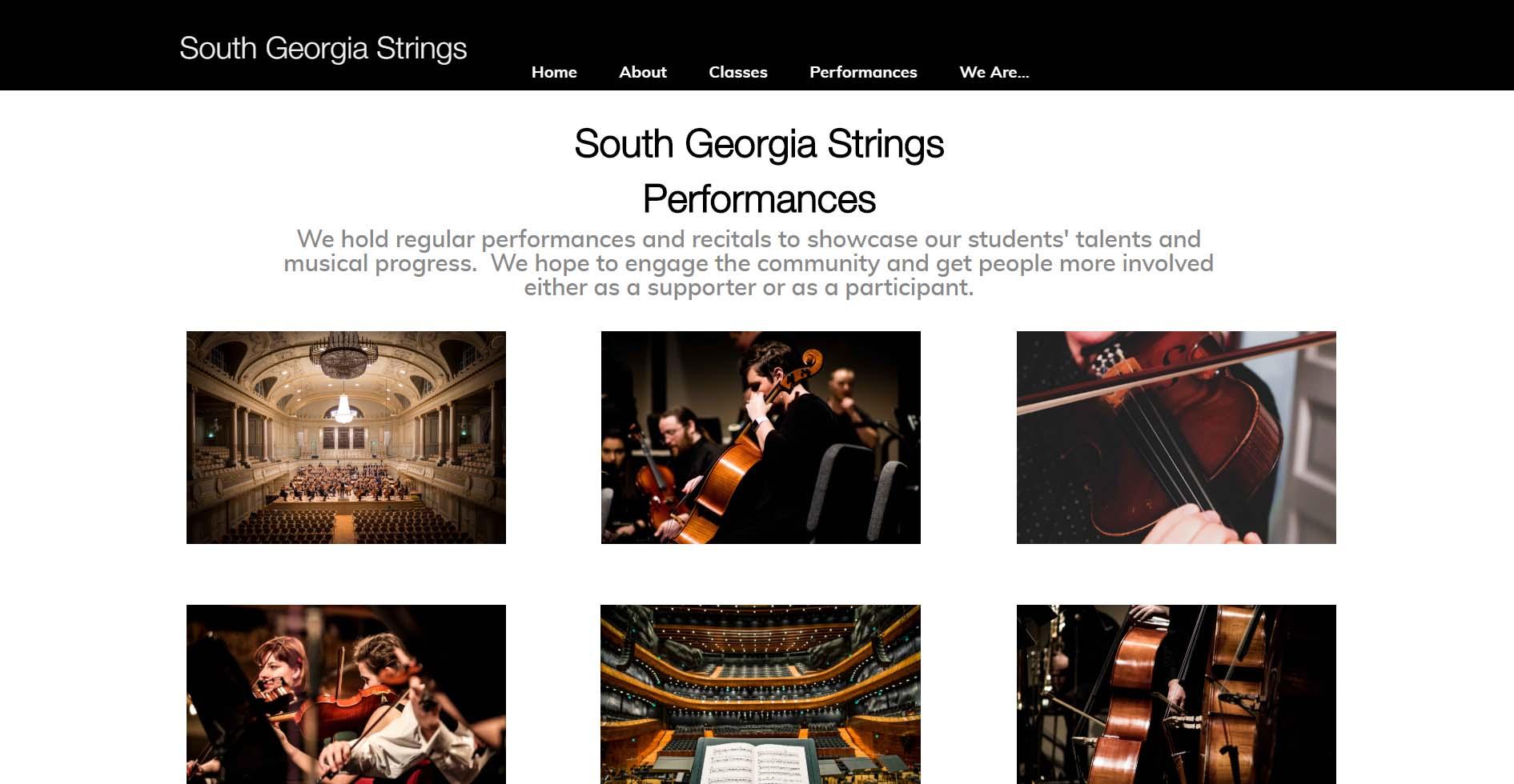 Strings Ensemble Website